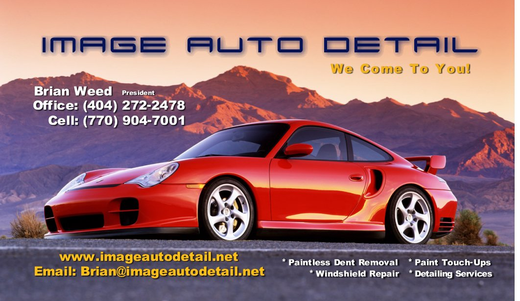 Business Cards Automotive Detailing Choice Image - Card Design And ...