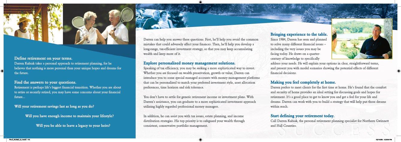 Trifold brochure sample Inside cover