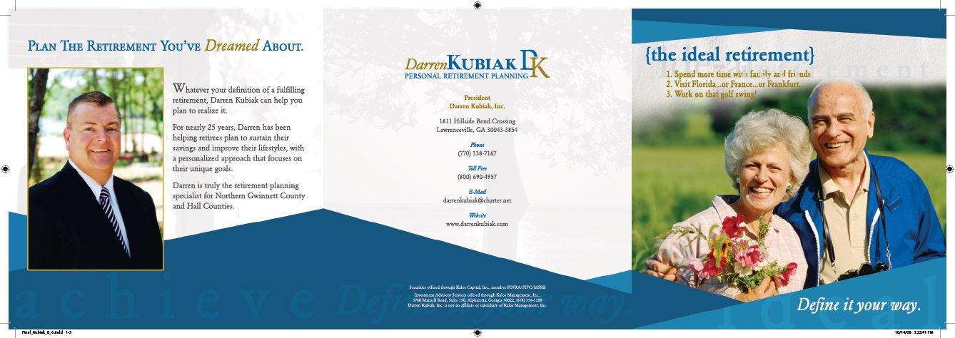 Trifold brochure sample front cover
