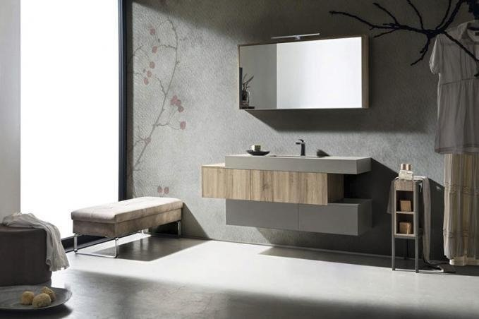 L arredo bagno è versatile e funzionale con play di cerasa