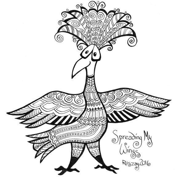 worry bird, confident