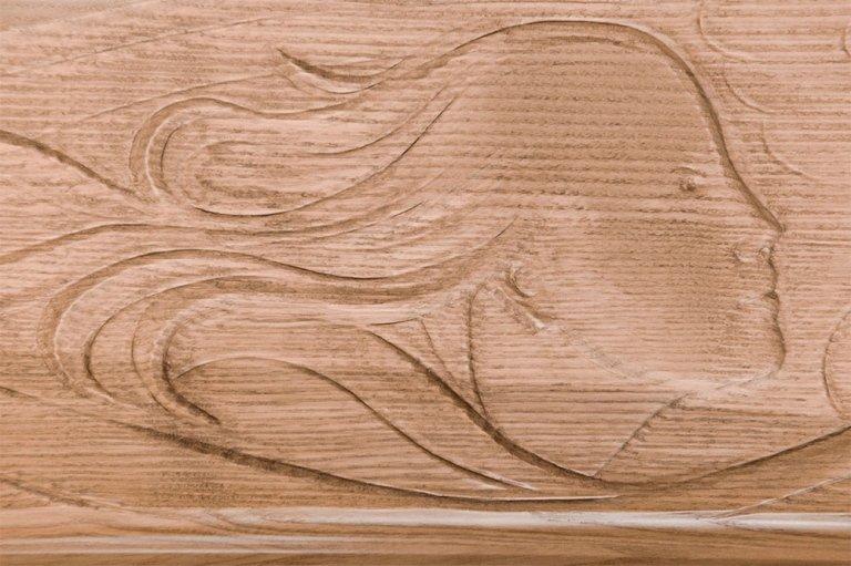 bare con incisioni legno