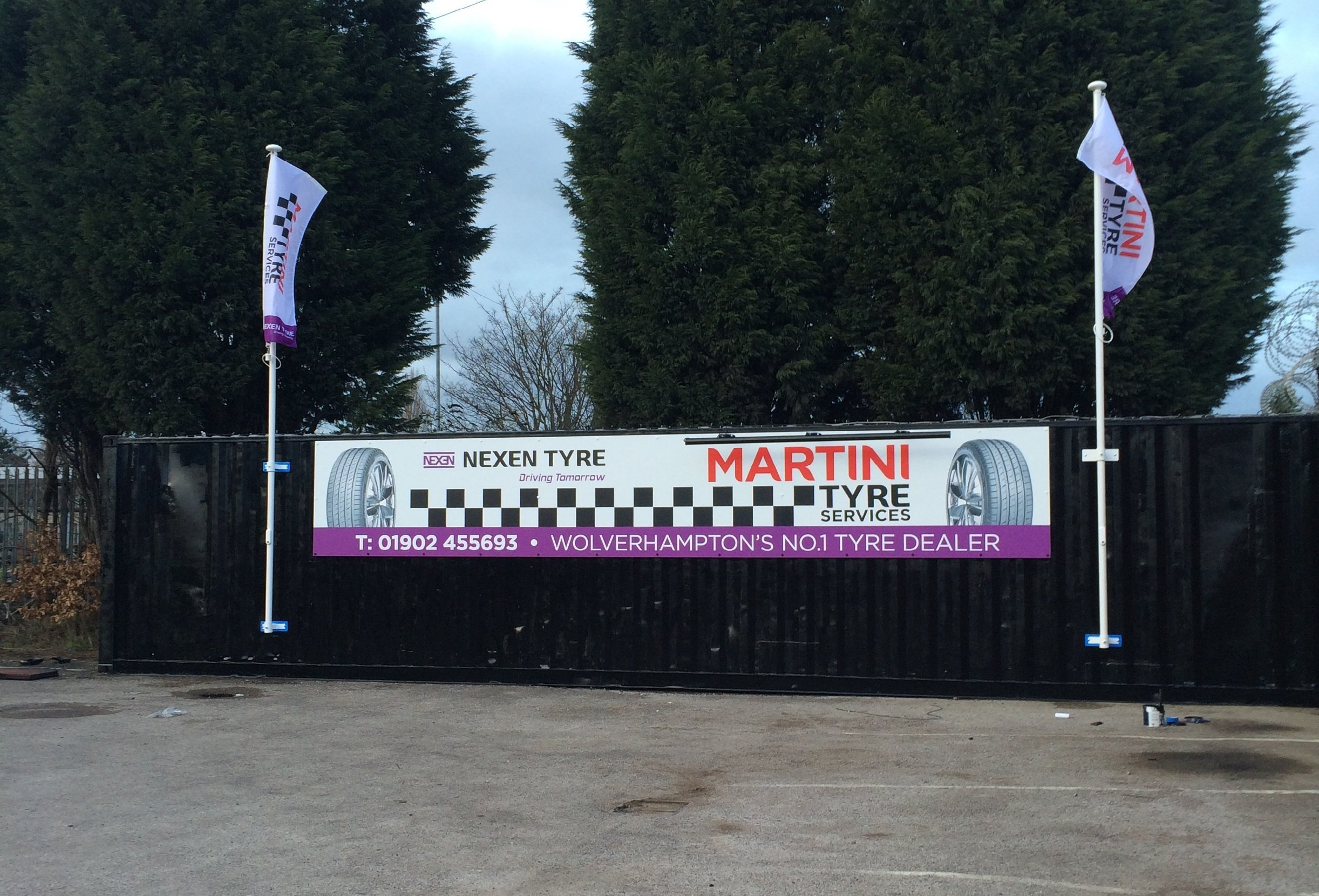 hoarding of MARTINI TYRE SERVICES