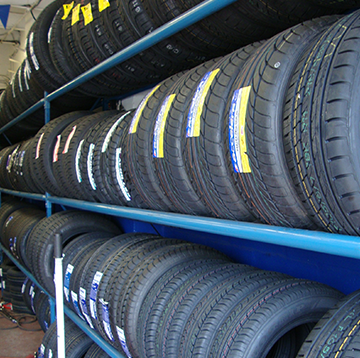 bunch of tyres