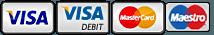 VISA MASTERCARD MAESTRO logos