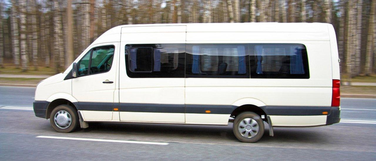 Van on road