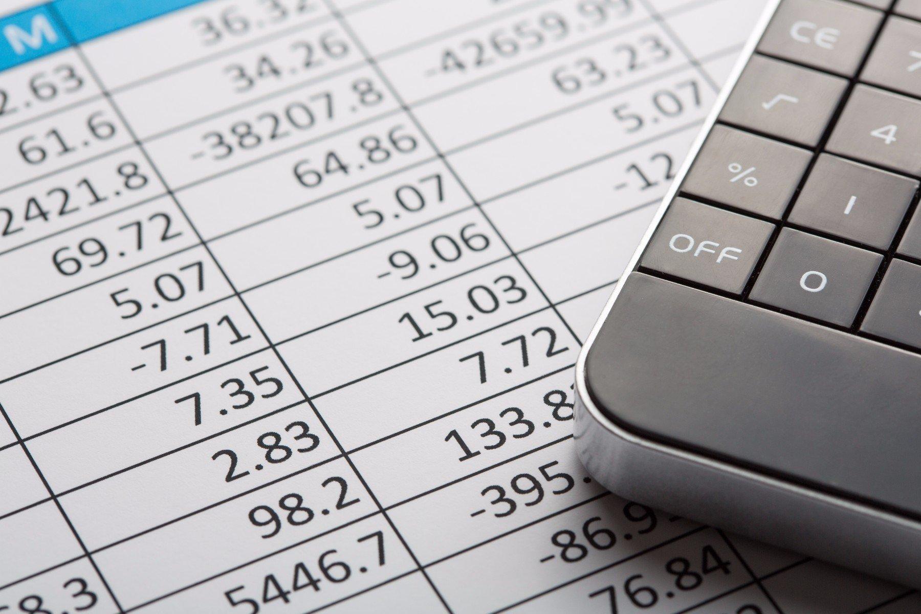 Tabella di risultati e calcolatrice