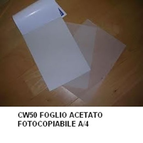 Foglio acetato fotocopiabile