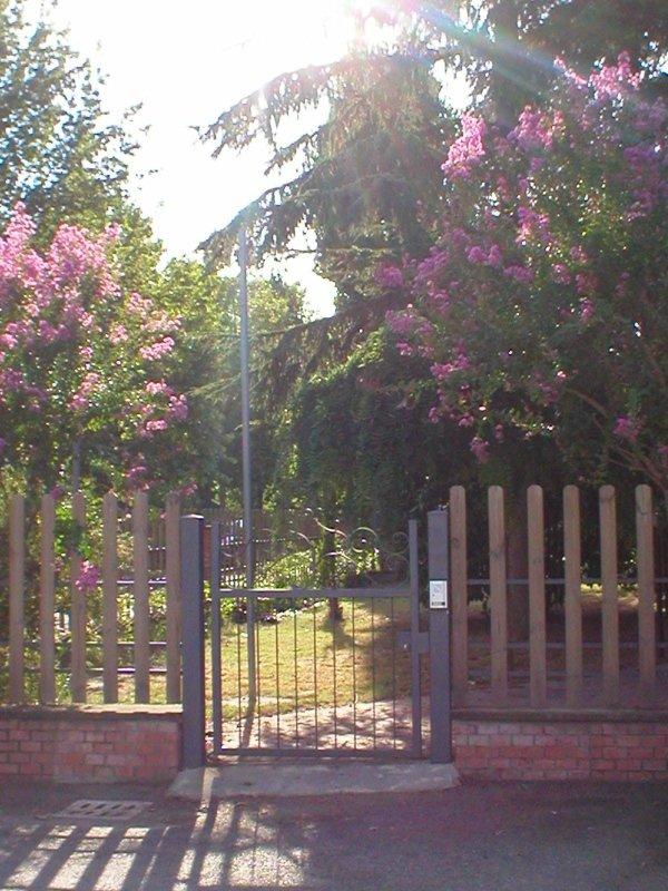 ampio parco della villa