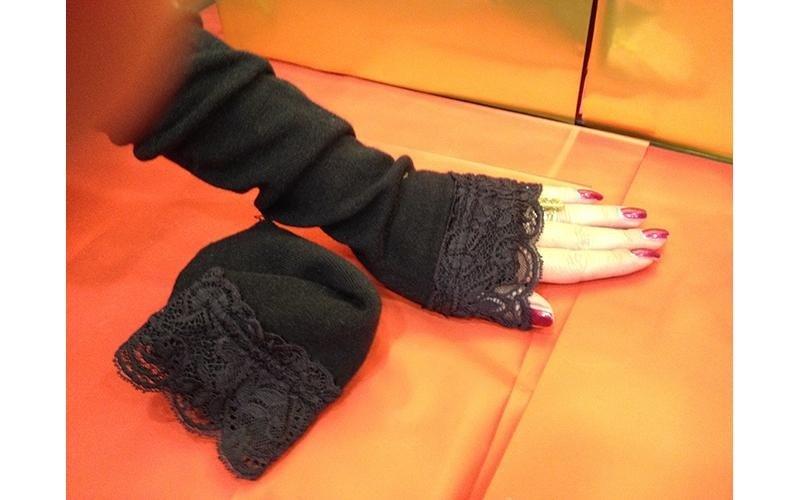 manicotto nero copri dita
