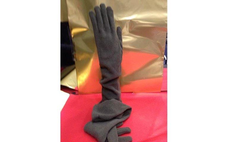 guanti grigi donna