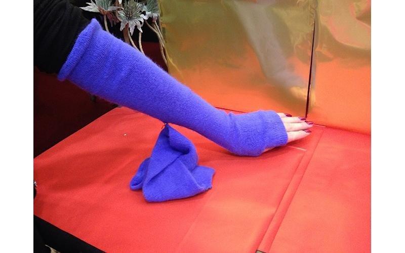 manicotto blu elettrico