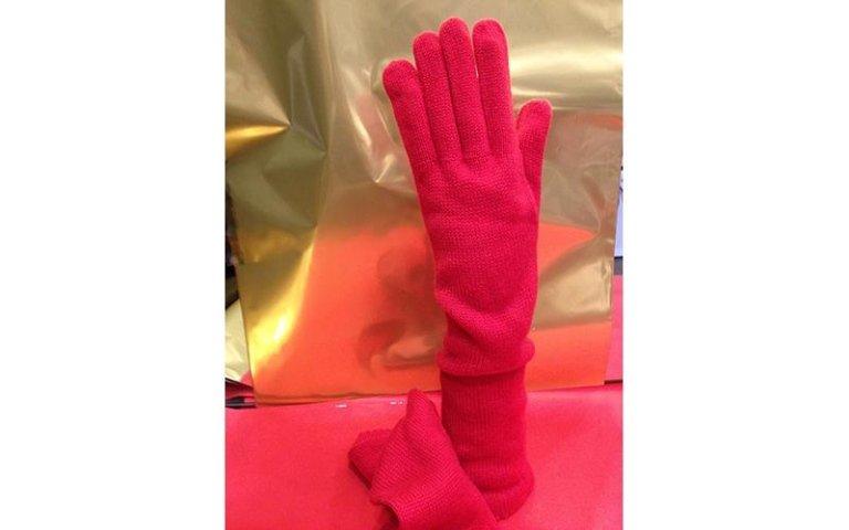 guanti rossi donna