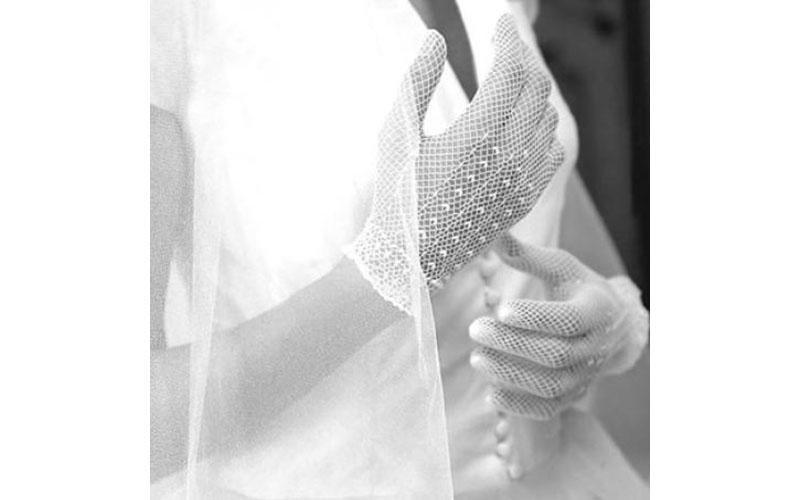 guanti corti sposa