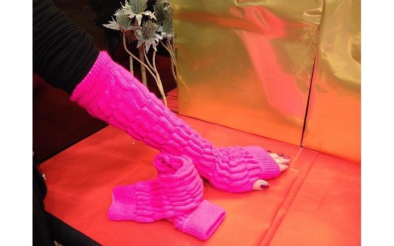 manicotto rosa donna