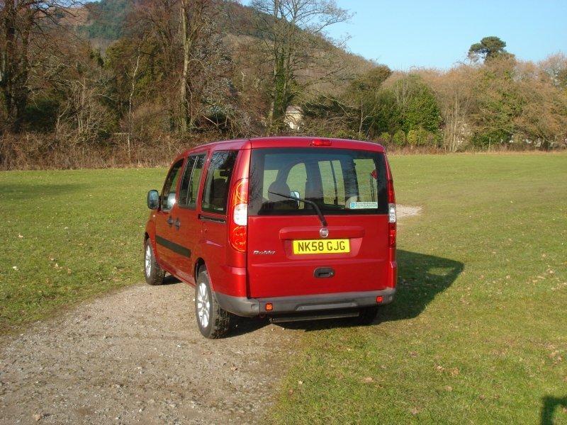 Red Fiat van