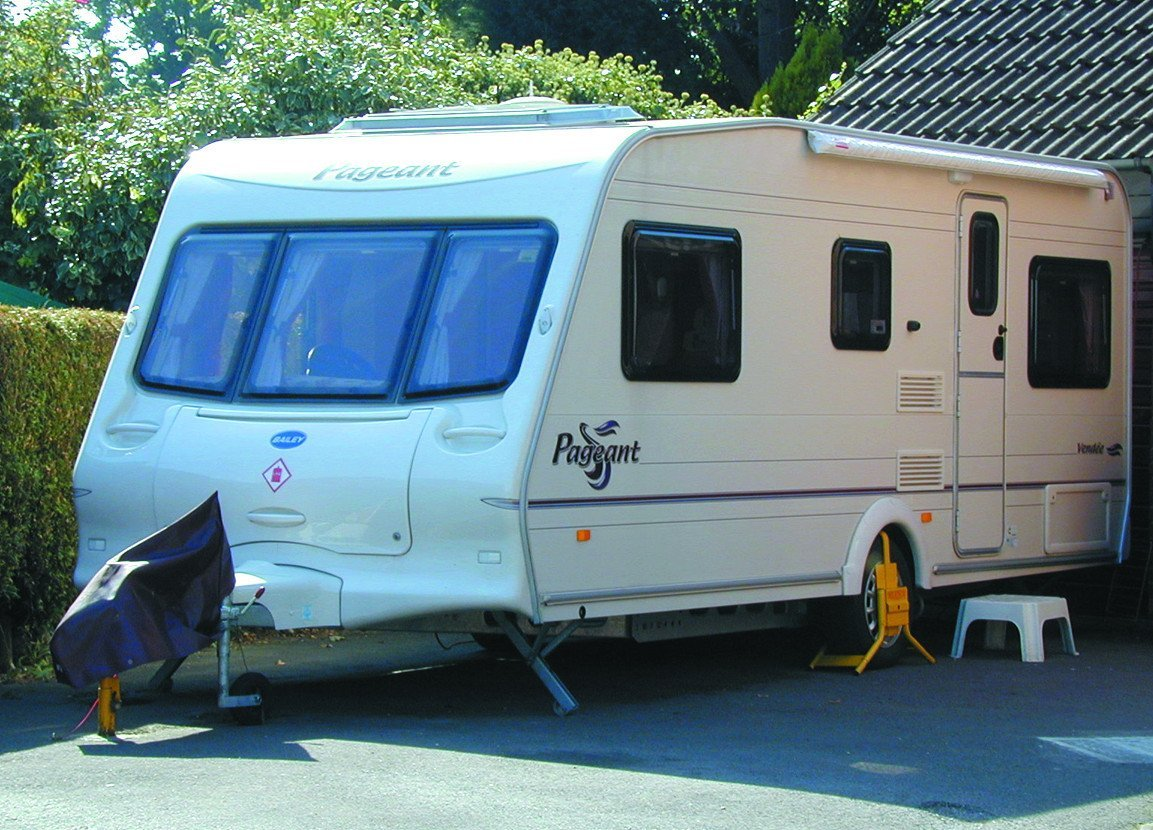 Parked motorhome