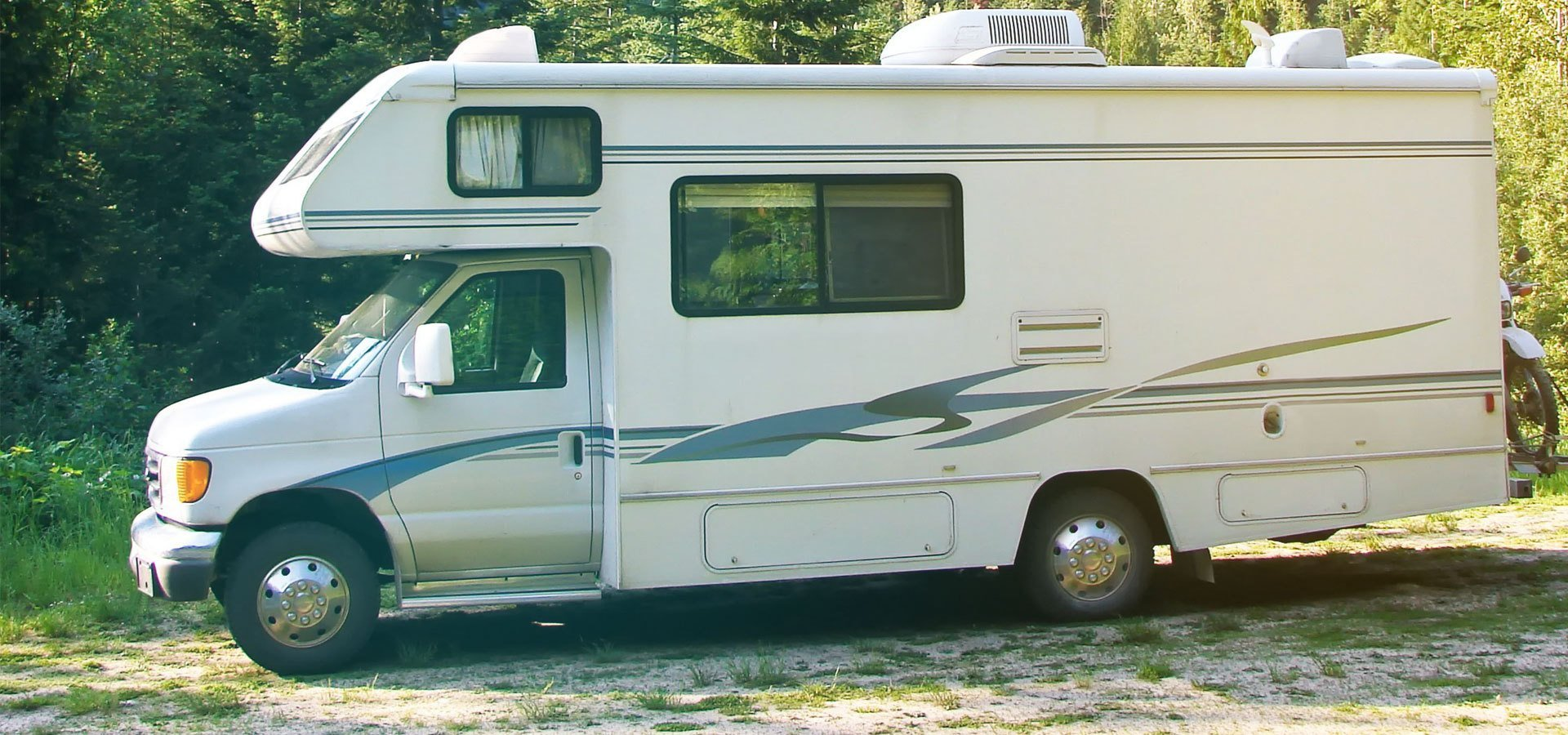 Parked new motorhome