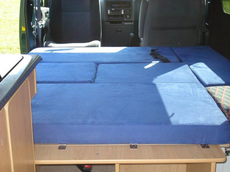 Inside Toyota camper