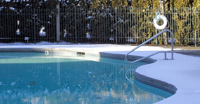 A & K fencing and gates grill fence on the pool