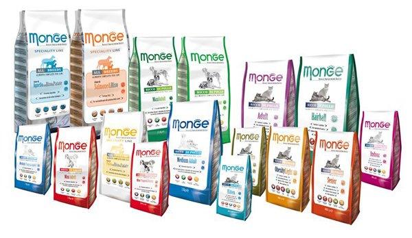 sacchetti di cibo per animali Monge