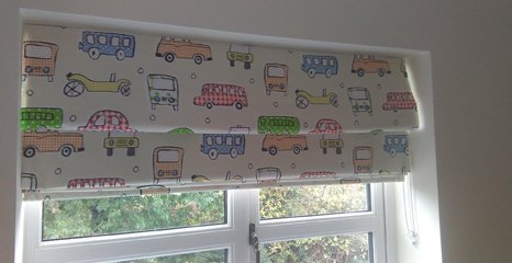 blinds with vehicle prints