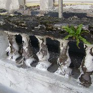 damaged balustrade