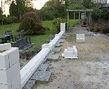 stones being laid