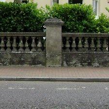 balustrading on sidewalk