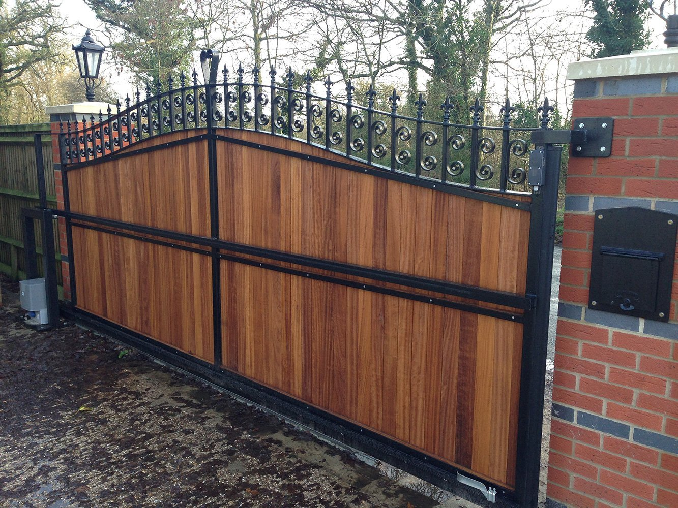 full wooden gate