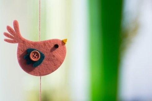 uccellino di tessuto