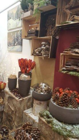 Vasi e decorazioni natalizie