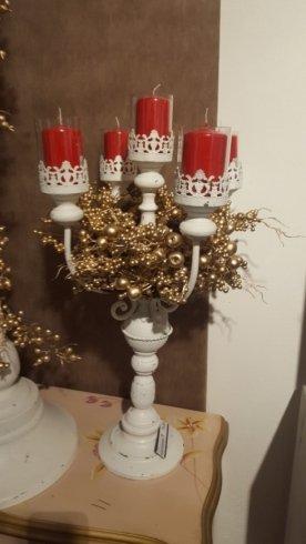 Porta candele a cinque bracci