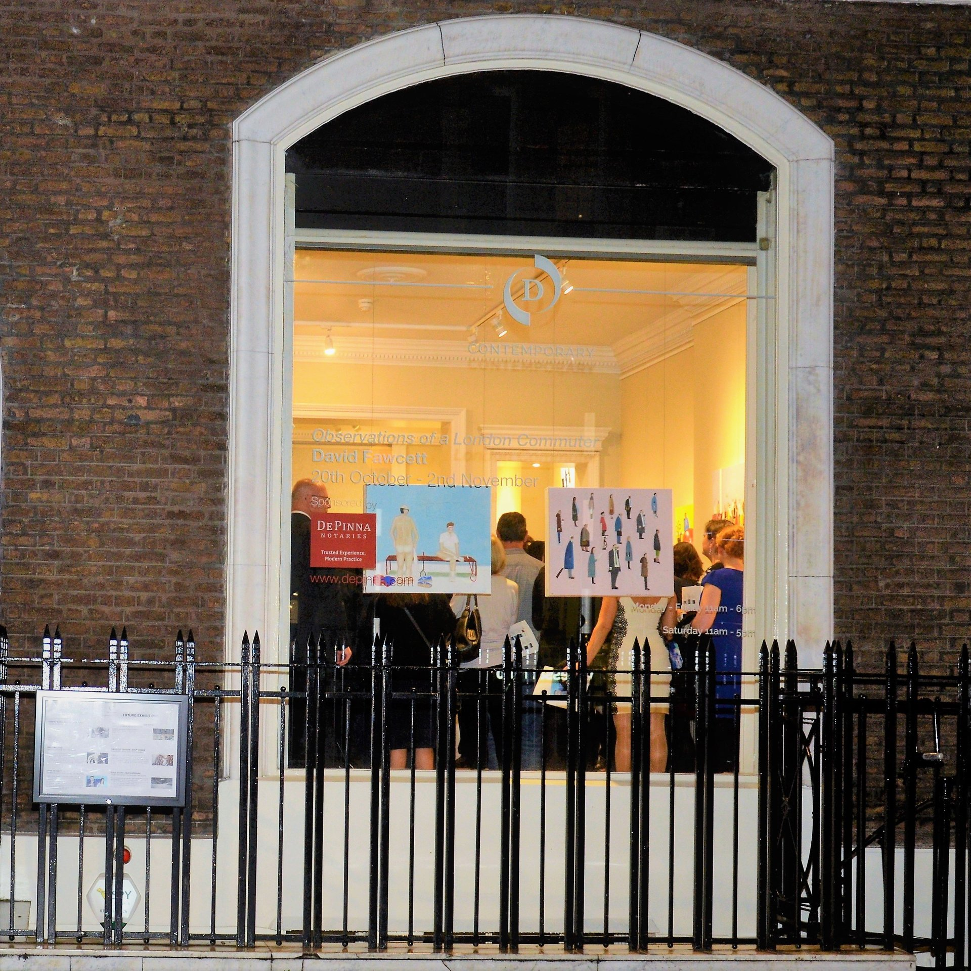 D Exhibition In London : David fawcett london notary contemporary art exhibition september