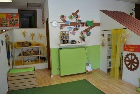 Un angolo della Sala Fattoria del Melo con spazio gioco per bambini.