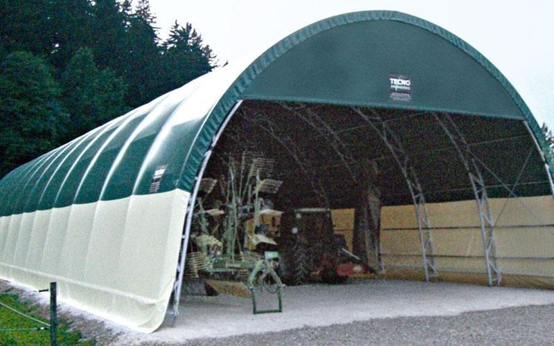 Lagerhalle mit Fachwerkträgersystem