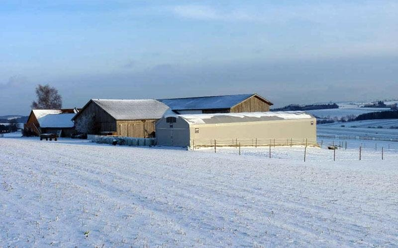 Anti-snow shed