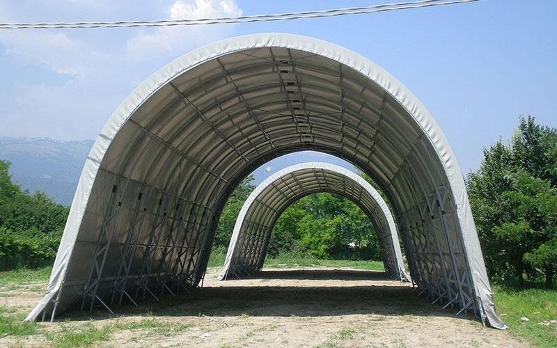 Wind shelter shed