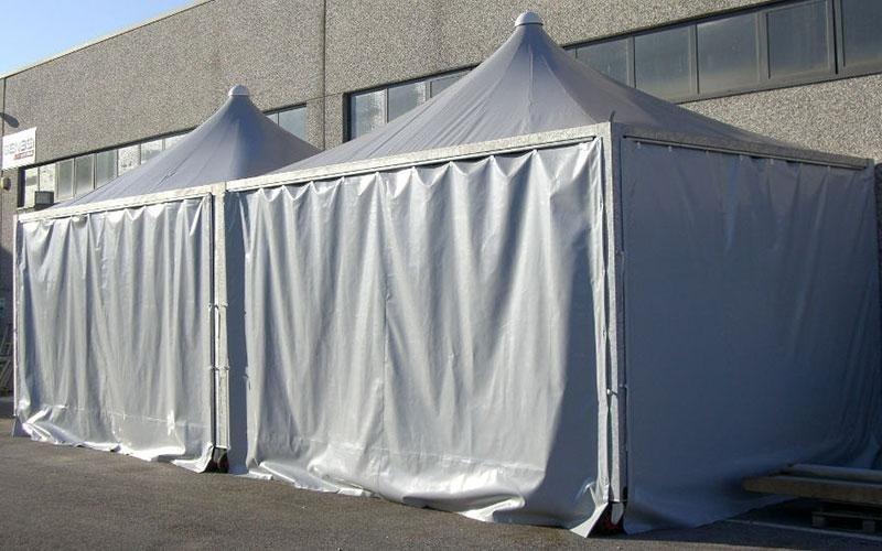 Stand mit Zelt
