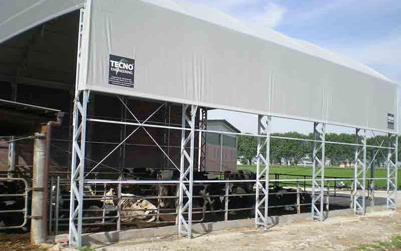 struttura copertura bestiame