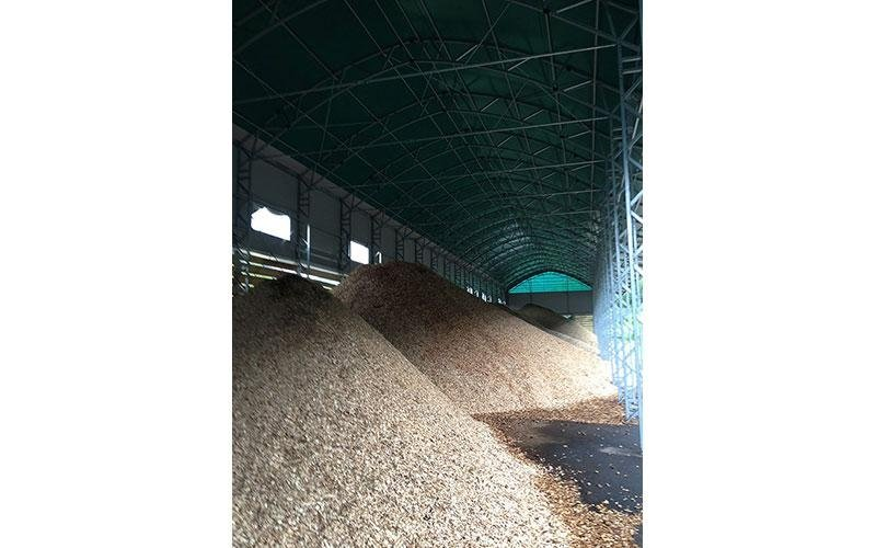 Wood chips shed