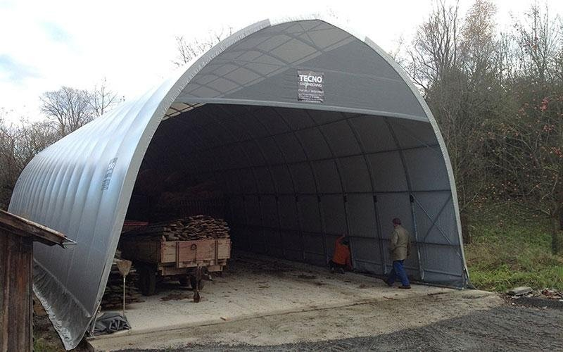 Agricultural vehicles shed