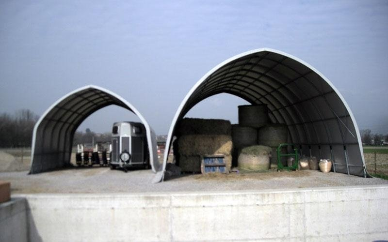 Goods storage shed