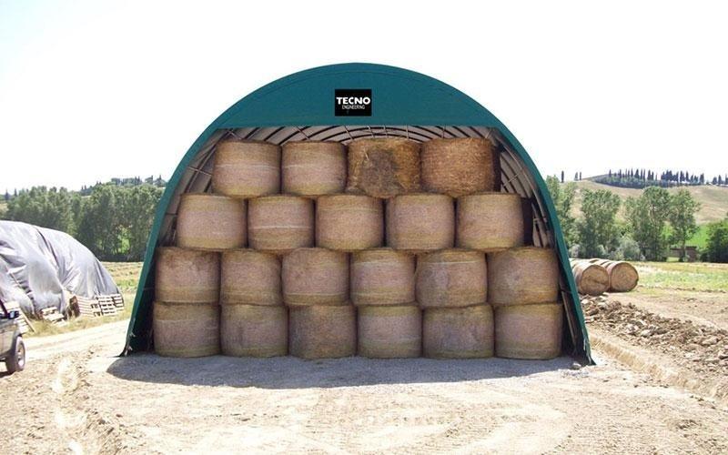 Hay bales shed