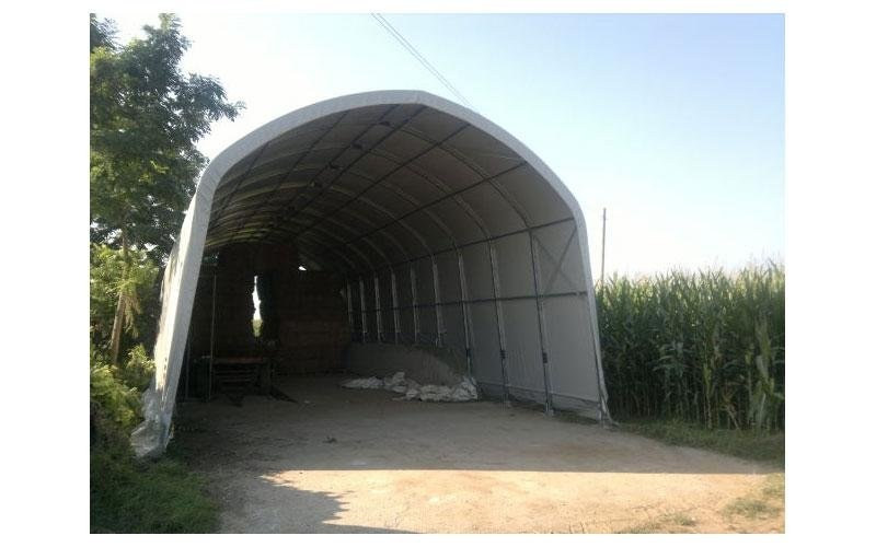 Barn for forage
