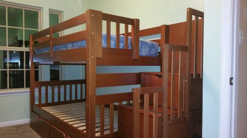 Bunk Bed Twin over Full Stairway assembly service in Annapolis MD