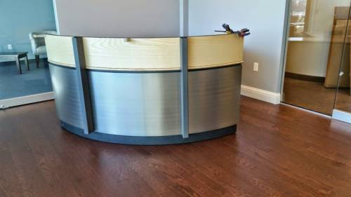 OFM Marque Double Reception desk assembly service in Washington DC