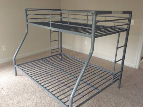 Walker Edison Black Metal Twin Double Bunk Bed assembly service in Towson MD