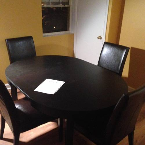 Weston Dining Table with chairs assembly services in Alexandria VA