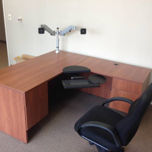 bestar l shaped desk assembly service in Brentwood DC